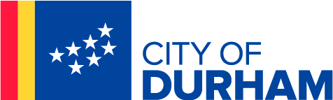 City of Durham Logo with City of Durham flag