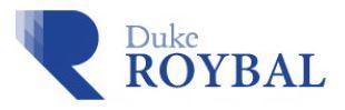 Duke Roybal Center Logo - large blue R